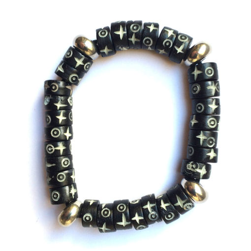 bracelet pour homme en os noir