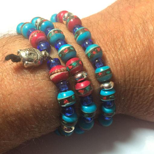 Bracelet népali en os, collection 2016