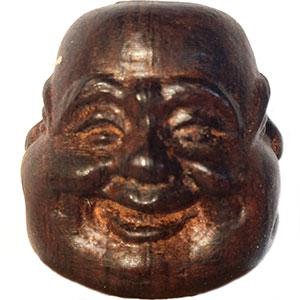Bouddha à quatre expressions de la vie. Bouddha est très content
