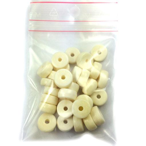 white bone beads (loose)
