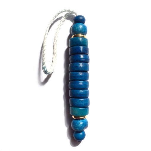 051 carved bone blue indigo