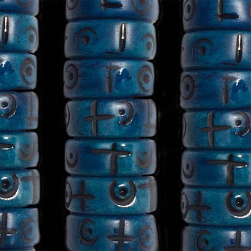050 carved bone blue