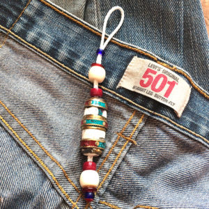 LAMA NEPALI SHELL porte bonheur, bagcharm