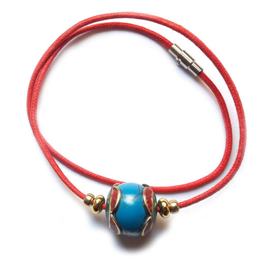 Collier perle Nepali