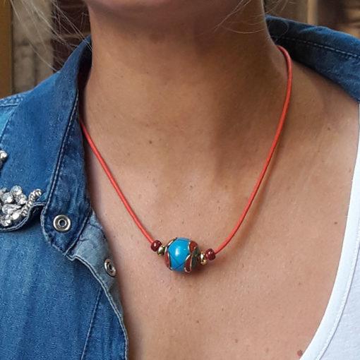 collier avec perle Népal