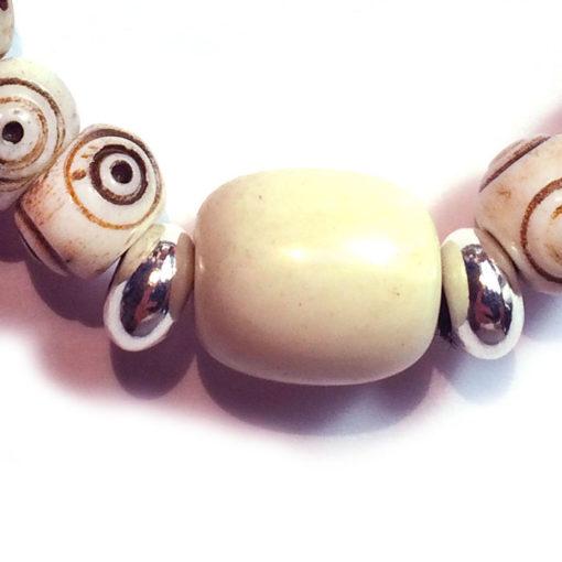 Bracelet (extrait) crotale blanc en os