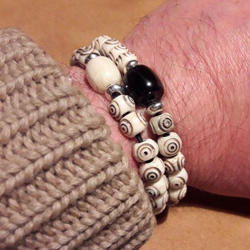 Bracelet homme en os de yak