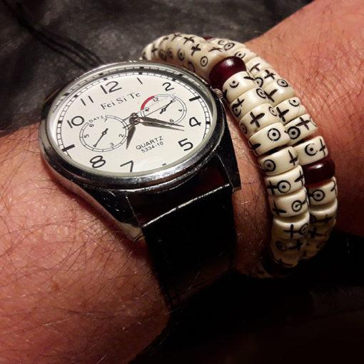 dri, bracelet pour homme en os blanc