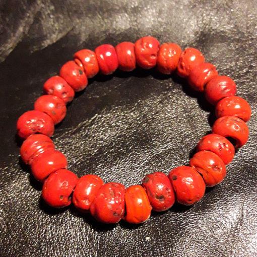 bracelet corail de verre