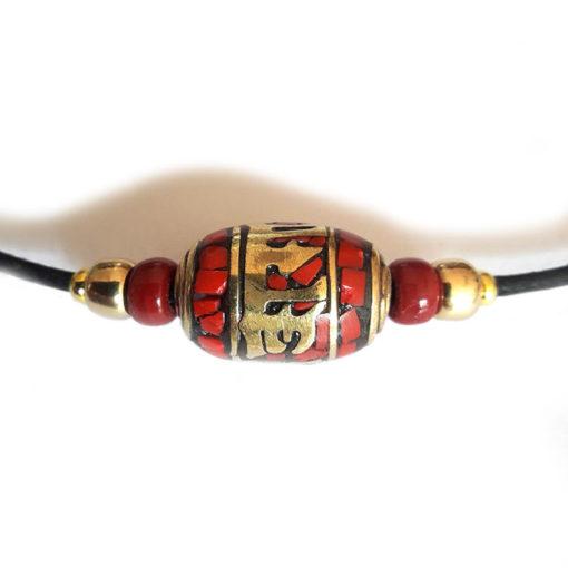 mantra corail, collier du nepal